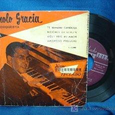 Discos de vinilo: - MANOLO GRACIA Y SU ORQUESTA - TE LLAMAN CARIÑOSA+3 - DISCOS TECLADO ESPAÑA AÑOS 60? - RARO. Lote 22566961