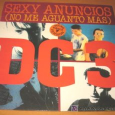 Discos de vinilo: DC 3 - DC3 - SEXY ANUNCIOS / NO ME AGUANTO MAS - MX - FONOMUSIC 1993 SPAIN TECHNO DANCE VERSION. Lote 27141198