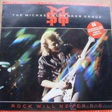 Discos de vinilo: THE MICHAEL SCHENKER GROUP - ROCK WILL NEVER DIE (LIVE) CHRYSALIS 1984. Lote 24934299