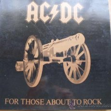 Discos de vinilo: AC/DC - FOR THOSE ABOUT TO ROCK ATLANTIC 1981 PORTADA NEGRA. Lote 24271194