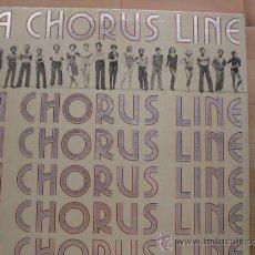 Discos de vinilo: A CHORUS LINE CBS 1975 USA PORTADA DOBLE. Lote 23365517