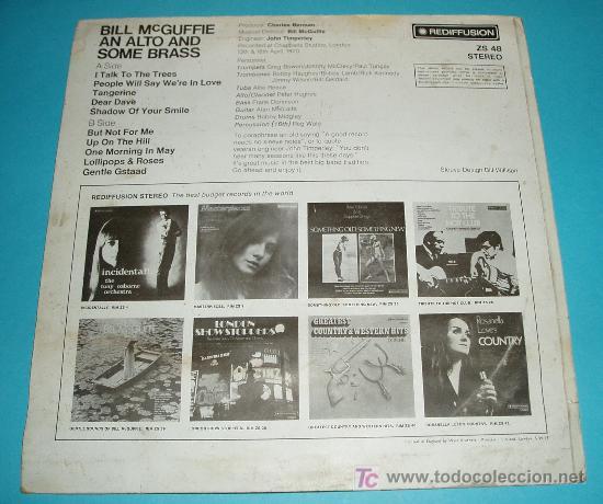 Discos de vinilo: BILL MCGUFFIE (PIANISTA) AN ALTO AND SOME BRASS. REDIFFUSION. 1970 - Foto 2 - 24604653