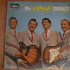 Discos de vinilo: BUDDY HOLLY - CHIRPING CRICKETS ORIGINAL UK MARZO 1958,MUY RARO!! ELVIS, GENE VINCENT, EDDIE COCHRAN. Lote 26268200