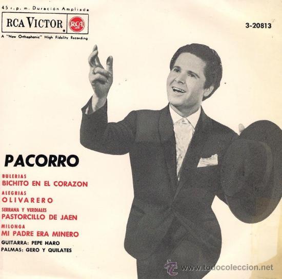 PACORRO - BICHITO EN EL CORAZÓN - EP - 1966 (Música - Discos de Vinilo - EPs - Flamenco, Canción española y Cuplé)