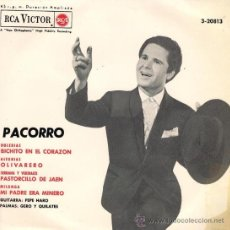 Discos de vinilo: PACORRO - BICHITO EN EL CORAZÓN - EP - 1966. Lote 27414432