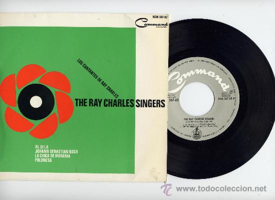 THE RAY CHARLES SINGERS. EP 45 RPM. COMMAND AÑO 1964 (Música - Discos de Vinilo - EPs - Jazz, Jazz-Rock, Blues y R&B)