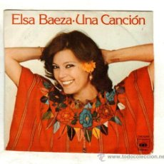 Discos de vinilo: UXV ELSA BAEZA SINGLE 45 RPM 1978 UNA CANCION FOLK MELODICO POP EN EL TRONCO DE UB ARBOL ACTRIZ . Lote 24383104