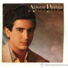 Discos de vinilo: UXV AGUSTIN PANTOJA SINGLE 45 RPM 1985 ADIOS AMOR LA MISMA HISTORIA POP MELODICO FLAMENCO . Lote 26006541