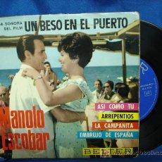 Discos de vinilo: - MANOLO ESCOBAR - ASI COMO TU + 3 - BELTER ESPAÑA 1966. Lote 19985111