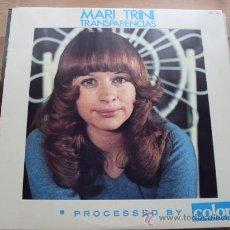 Discos de vinilo: MARI TRINI - TRANSPARENCIAS HISPAVOX 1975 NUEVO. Lote 27509404