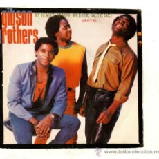 Discos de vinilo: UXV GIBSON BROTHERS SINGLE 45 RPM 1982 MY HEART´S BEATING WILD TIC TAC TIC TAC SALSA LATINA DANCE . Lote 26006547