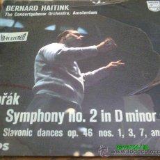 Discos de vinilo: DVORAK.SYMPHONY N 2 IN D MINOR OP.70..DIR,, BERNARD HAITINK... Lote 27616557