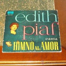 Discos de vinilo: EDITH PIAF EP HYMNE A L'AMOUR+3. Lote 19973367
