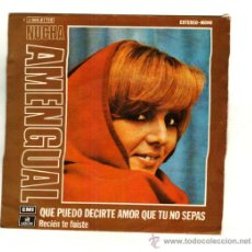Discos de vinilo: UXV NUCHA AMENGUAL SINGLE 45 RPM 1974 QUE PUEDO DECIRTE AMOR QUE TU YA NO SEPAS LOCUTORA . Lote 23259813
