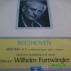 Discos de vinilo: BEETHOVEN.. SINFONIA N 3 EN MI BEMOL MAYOR,OP 55 HEROICA,,DIR. WILHELM FURTWANGLER. Lote 27568414