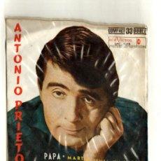 Discos de vinilo: UXV ANTONIO PRIETO SINGLE COMPACTO 33 RPM 1962 PAPA EL SILBIDITO LAS HOJAS MUERTAS BOLERO VALS . Lote 24343349