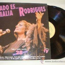 Discos de vinilo: DOBLE LP DE AMALIA RODRIGUES, FADO ES FADO. Lote 26935587