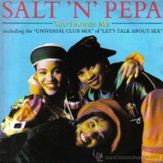 Discos de vinilo: SALT´N´PEPA-YOU SHOWED ME + NEGRO WIT AN EGO + LET´S TALK ABOUT SEX SINGLE VINILO 1991 (GERMANY). Lote 20061009
