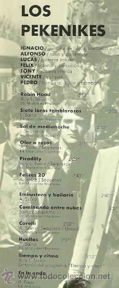 Discos de vinilo: LOS PEKENIKES LP SELLO HISPAVOX AÑO 1967 - Foto 2 - 20083251