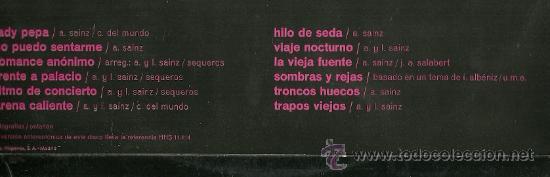 Discos de vinilo: LOS PEKENIKES LP SELLO HISPAVOX AÑO 1966 - Foto 2 - 20083266