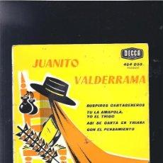 Discos de vinilo: JUANITO VALDERRAMA SUSPIROS CARTAGENEROS. Lote 20089537