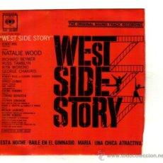 Discos de vinilo: UXV WEST SIDE STORY SINGLE 45 RPM 1962 ESTA NOCHE MARIA BAILE BERNSTEIN BANDA SONORA ORIGINAL. Lote 25767833