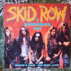 Discos de vinilo: SKID ROW - I REMEMBER YOU + 2 CANCIONES - MAXI SINGLE 12' EDICIÓN UK - 1989 MUY RARO. Lote 27340589