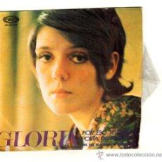 Discos de vinilo: UXV GLORIA SINGLE 45 RPM 1971 POR ESO TE QUIERO POETA DE ANTAÑO FESTIVAL BENIDORM. Lote 25789452