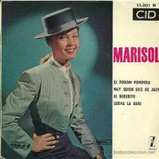 Discos de vinilo: MARISOL EP SELLO ZAFIRO CID EDITADO EN FRANCIA. Lote 20119599