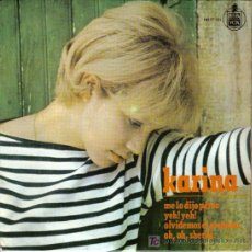 Discos de vinilo: KARINA - EP-SINGLE - EDICION ESPAÑA - ME LO DIJO PEREZ+3 -1965 -TEMAS DE ALBERTO CORTEZ Y GAINSBOURG. Lote 26675189