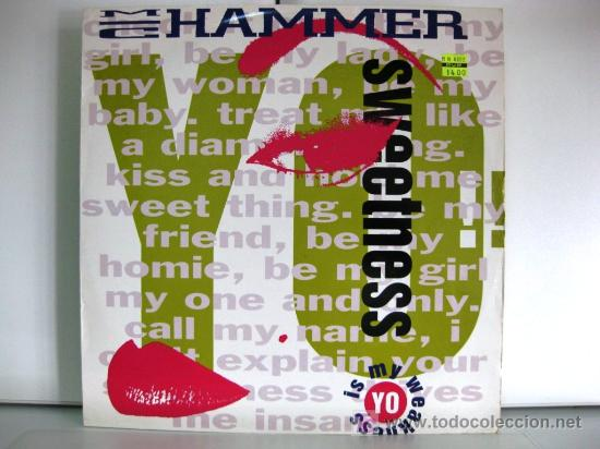 MC HAMMER - YO!! SWEETNESS - MAXI CAPITOL 1991 BPY (Música - Discos de Vinilo - Maxi Singles - Rap / Hip Hop)