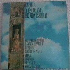Discos de vinilo: CAPILLA Y ESCOLANIA DE MONTSERRAT - LP EMI COLUMBIA - CP 9104 - ESPAÑA 1971. Lote 24396694