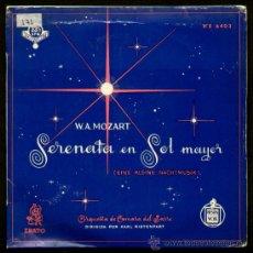 Discos de vinilo: MOZART - SPAIN EP HISPAVOX 195? - SERENATA EN SOL MAYOR (EINE KLEINE NACHTMUSIC) - 33 RPM. Lote 23980364
