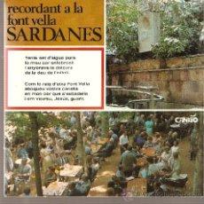 Discos de vinilo: SINGLE SARDANES - COBLA LA SELVATANA ( LA FONT VELLA DE SANT HILARI & MOSSEN CINTO VERDAGUER ) . Lote 25518819