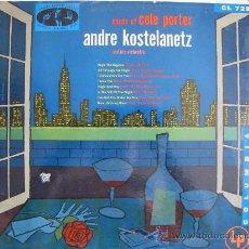 Discos de vinilo: LP-ANDRE KOSTELANETZ AND HIS ORCHESTRA - MUSIC OF COLE PORTER-ORIGINAL AMERICANO, COLUMBIA SIN FECHA. Lote 20228827