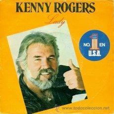 Discos de vinilo: KENNY ROGERS ··· LADY / SWEET MUSIC MAN - (SINGLE 45 RPM). Lote 20261338
