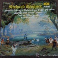 Discos de vinilo: RAFAEL KUBELIK & BERLINER PHILHARMONIKER R.WAGNER (SIEGFRIED-IDYLL - LOHENGRIN - TRISTAN UND ISOLDE. Lote 20281901