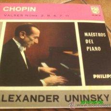 Discos de vinilo: CHOPIN.VALSES NUMS. 2,8.4.7 Y 11--ALEXANDER UNINSKY-PIANO- . Lote 22734709