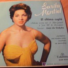 Discos de vinilo: SARITA MONTIEL ( EL ULTIMO CUPLE ) 45 RPM ( EP8) . Lote 20371883