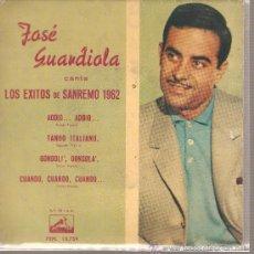 Discos de vinilo: EP JOSE GUARDIOLA - ADDIO ADDIO . Lote 25880483