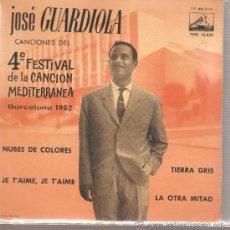 Discos de vinilo: EP JOSE GUARDIOLA - NUBES DE COLORES . Lote 26033763