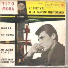 Discos de vinilo: EP TITO MORA - DUDAS . Lote 25960589