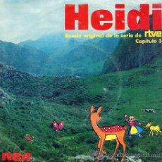 Discos de vinilo: HEIDI - BANDA SONORA ORIGINAL DE LA SERIE DE TVE - CAPÍTULO 3 - 1975. Lote 20327313