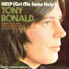 Disques de vinyle: TONY RONALD - HELP - FESTIVAL DE LA CANCIÓN DEL ATLÁNTICO DE TENERIFE, 1971 - IMPECABLE. Lote 26604878
