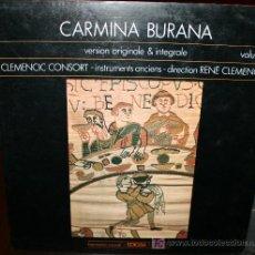 Discos de vinilo: LP - CARMINA BURANA - VOLUMEN 1 - CLEMENCIC CONSORT. Lote 20448843