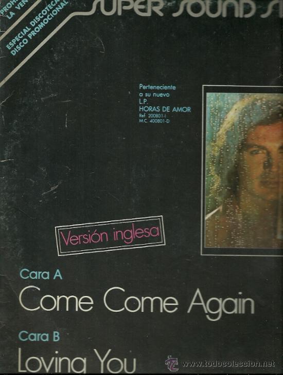 CAMILO SESTO CANTA EN INGLES MAXI-SINGLE SELLO ARIOLA AÑO 1979. (Música - Discos de Vinilo - Maxi Singles - Solistas Españoles de los 70 a la actualidad)