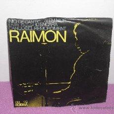 Discos de vinilo: SINGLE DE RAIMON ... INICI DE CANTIC + SI EM MOR *** EDIGSA - AÑO 1966. Lote 27435217