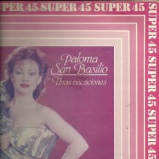 Discos de vinilo: PALOMA SAN BASILIO MAXI-SINGLE SELLO HISPAVOX EDITADO EN ESPAÑA AÑO 1983 . Lote 20342402