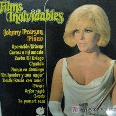 Discos de vinilo: LP-FILMS INOLVIDABLES- JOHNNY PEARSON PIANO -NUEVO-RARÍSIMO. Lote 27267832