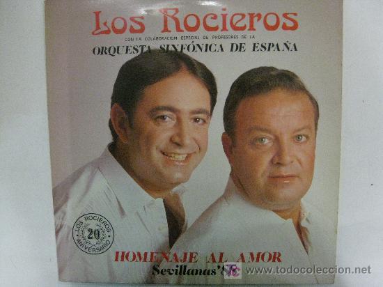 LP-LOS ROCIEROS-ORQUESTA SINFÓNICA DE ESPAÑA-HOMENAJE AL AMOR-SEVILLANAS 88-EN (Música - Discos - LP Vinilo - Orquestas)
